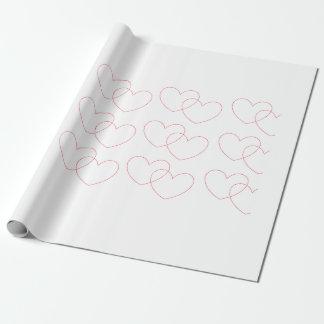 Het rode Met elkaar verbindende Verpakkende Inpakpapier