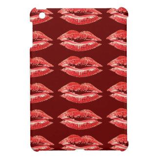 Het rode MiniHoesje van de Kus van Lippen iPad iPad Mini Case