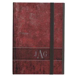 Het Rode Ontwerp van het Boek rustieke Grunge iPad Air Hoesje