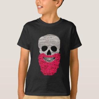 Het rode Overhemd van de Schedel van Hipster van T Shirt