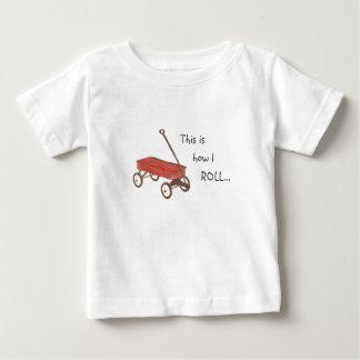 Het rode Overhemd van de Wagen Baby T Shirts