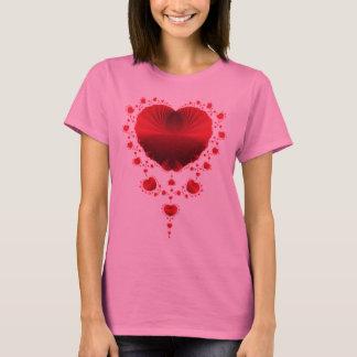 Het rode Overhemd van Harten T Shirt