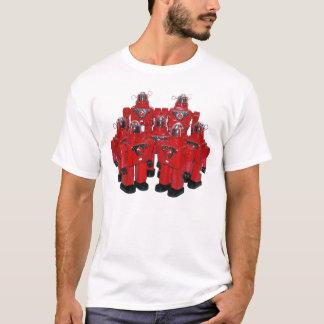 Het rode Overhemd van Robots T Shirt