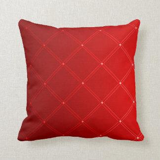 Het rode Patroon van de Diamant van de Draak Sierkussen