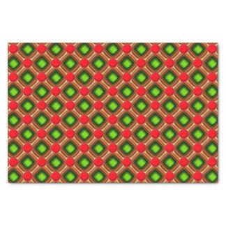 Het rode Patroon van de Gem Tissuepapier