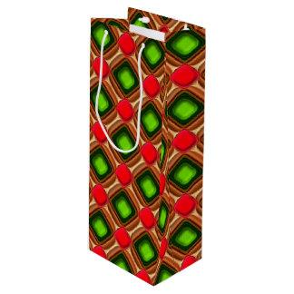 Het rode Patroon van de Gem Wijn Cadeautas