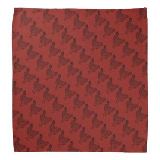 Het rode Patroon van de Kip Bandana