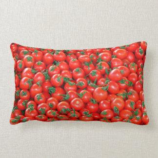 Het rode Patroon van de Tomaten van de Kers Lumbar Kussen