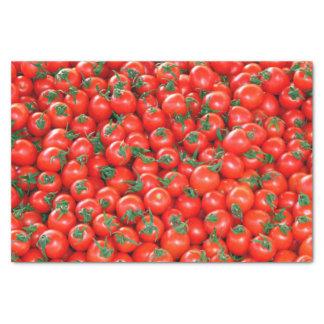 Het rode Patroon van de Tomaten van de Kers Tissuepapier