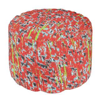 Het Rode Patroon van het Mozaïek van het ijs Poef