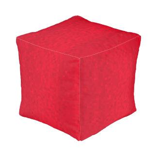 Het rode Patroon van het Mozaïek, Volledige Pouffe Vierkant Zitkussen