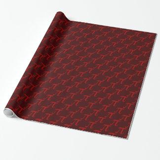 Het rode Patroon van Pi Inpakpapier