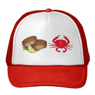 Het rode Pet van het Voedsel van de Zeevruchten
