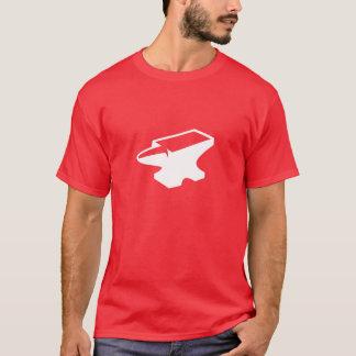 Het rode (Rode) T-shirt van het Aambeeld van de