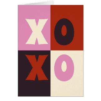 Het Rode Roze Ivoor van de Aubergine XOXO Kaart