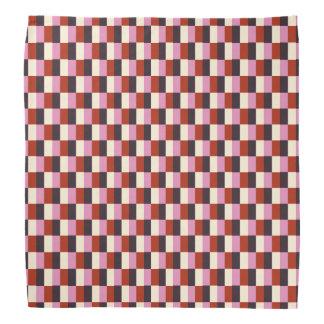 Het rode Roze Patroon van de Plaid van het Ivoor Bandana