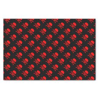 Het rode Schedel en Patroon van Gekruiste knekels Tissuepapier