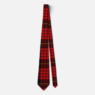 Het rode Stropdas van het Geruite Schotse wollen