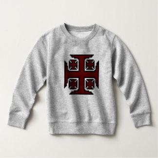 Het rode Sweatshirt van de Vacht van de Peuter