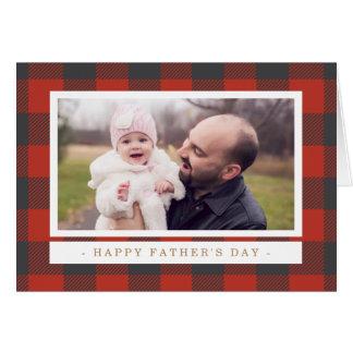 Het rode Vaderdag van de Plaid Briefkaarten 0
