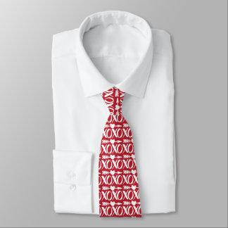 Het rode Valentijnse Stropdas van het Patroon van