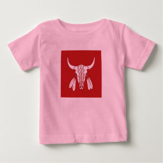 Het rode van het babymeisjes van de Buffels van de Baby T Shirts