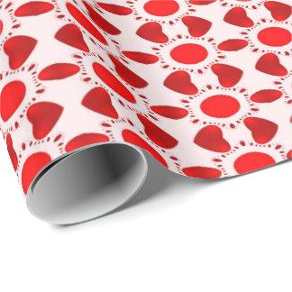 Het rode Verpakkende Document van de Valentijnsdag Inpakpapier