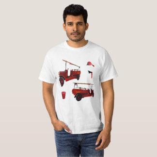 Het rode Vintage Materiaal van de T Shirt