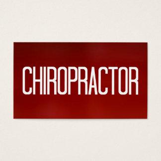 Het Rode Visitekaartje van de chiropracticus Visitekaartjes