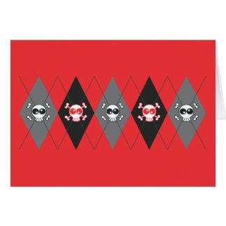 Het Rode Wenskaart van Argyle van de Schedel van