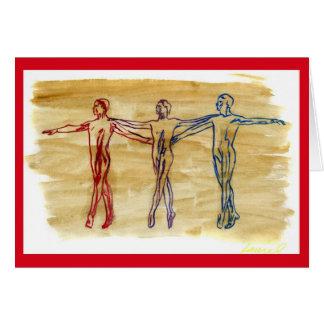 Het Rode) Wenskaart van de dans van de Harmonie (