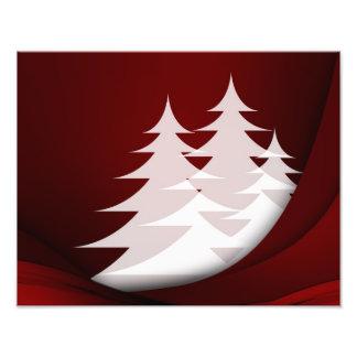 Het Rode Wit van het Abstracte Ontwerp van de Kers Fotoafdruk