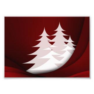 Het Rode Wit van het Abstracte Ontwerp van de Kers Foto Afdruk