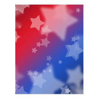 Het Rode Witte Blauw van de patriottische Sterren Briefkaart