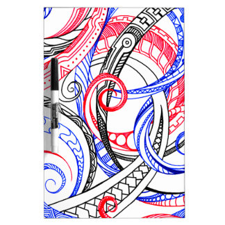 Het rode Witte Blauwe Ontwerp van de Krabbel van Whiteboards