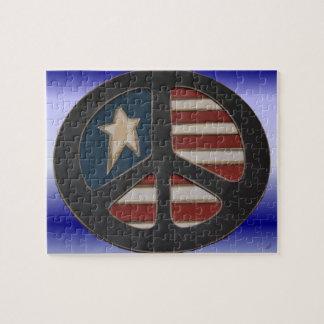 Het rode Witte Blauwe Raadsel van de Vrede door Puzzel