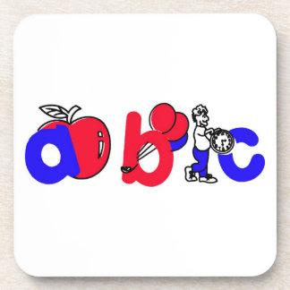 Het rode, Witte en Blauwe Logo van het Alfabet van Onderzetters