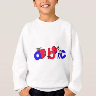 Het rode, Witte en Blauwe Logo van het Alfabet van T Shirts