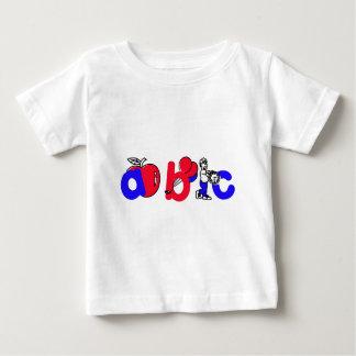 Het rode, Witte en Blauwe Logo van het Alfabet van Tshirt