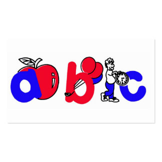 Het rode, Witte en Blauwe Logo van het Alfabet van Visitekaartjes