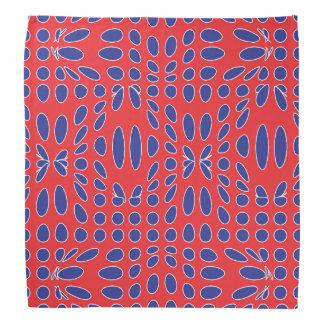 Het rode Witte en Blauwe Patroon van de Draaikolk Bandana