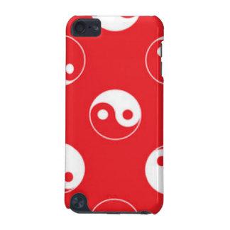 Het rode & Witte Ontwerp van het Patroon van Yin iPod Touch 5G Hoesje