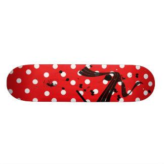 Het rode & Witte Skateboard van Comp van de Stip