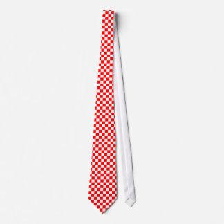 Het rode & Witte Stropdas van het Schaakbord