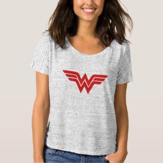Het rode Wonder Logo van de Vrouw T Shirt
