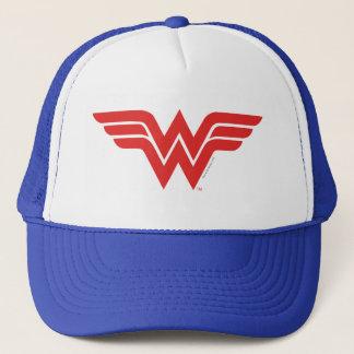 Het rode Wonder Logo van de Vrouw Trucker Pet