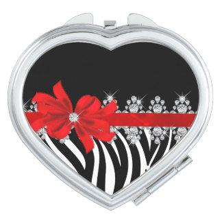 (Het Rode) Zebra van Delilah van de diamant Makeup Spiegel
