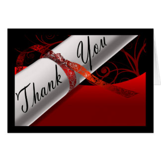 Het rode & Zwarte Diploma dankt u kaardt Notitiekaart