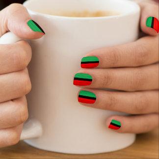 Het Rode Zwarte Groene Gestreepte Patroon Kinara Minx Nail Folie