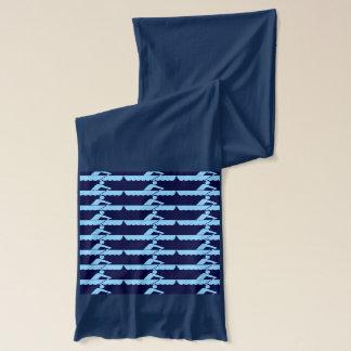 Het roeien - Blauw Sjaal